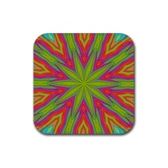 Pattern Art Abstract Art Abstract Background Rubber Coaster (square)