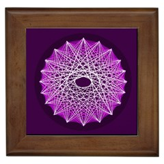 Mandala Mallow Circle Abstract Framed Tiles