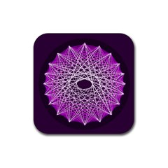 Mandala Mallow Circle Abstract Rubber Coaster (square)