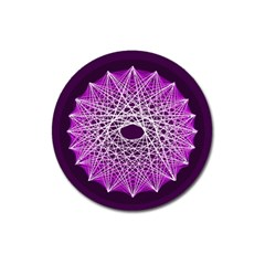 Mandala Mallow Circle Abstract Magnet 3  (round)