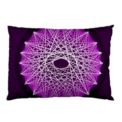 Mandala Mallow Circle Abstract Pillow Case (two Sides) by Simbadda
