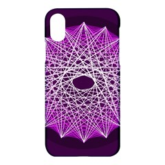 Mandala Mallow Circle Abstract Apple Iphone X Hardshell Case by Simbadda
