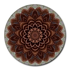 Abstract Art Texture Mandala Round Mousepads