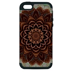 Abstract Art Texture Mandala Apple Iphone 5 Hardshell Case (pc+silicone)