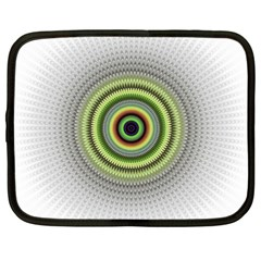 Fractal Mandala White Background Netbook Case (xxl)