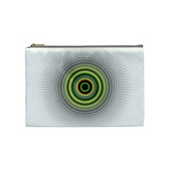 Fractal Mandala White Background Cosmetic Bag (medium)