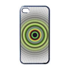 Fractal Mandala White Background Apple Iphone 4 Case (black) by Simbadda