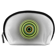 Fractal Mandala White Background Accessory Pouch (large) by Simbadda