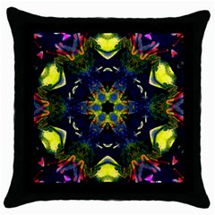Chakra Art Healing Mandala Throw Pillow Case (black) by Simbadda