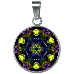 Chakra Art Healing Mandala 20mm Round Necklace by Simbadda
