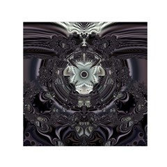 Black And White Fractal Art Artwork Design Small Satin Scarf (square) by Simbadda