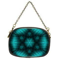 Abstract Pattern Black Green Chain Purse (one Side)
