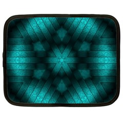 Abstract Pattern Black Green Netbook Case (xl)
