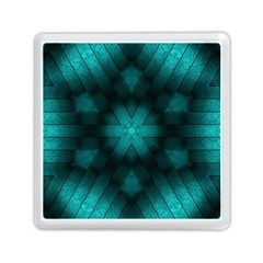 Abstract Pattern Black Green Memory Card Reader (square)