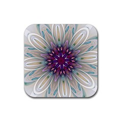 Mandala Kaleidoscope Ornament Rubber Square Coaster (4 Pack)