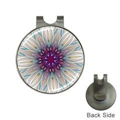 Mandala Kaleidoscope Ornament Hat Clips With Golf Markers by Simbadda