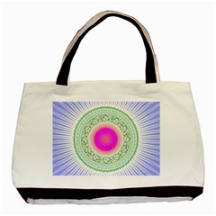 Flower Abstract Floral Basic Tote Bag (two Sides) by Simbadda