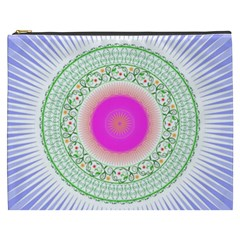 Flower Abstract Floral Cosmetic Bag (xxxl)