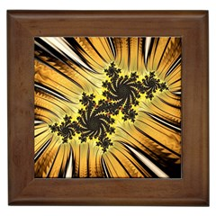 Fractal Art Colorful Pattern Framed Tiles
