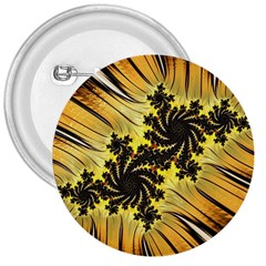 Fractal Art Colorful Pattern 3  Buttons