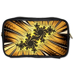 Fractal Art Colorful Pattern Toiletries Bag (one Side) by Simbadda