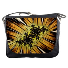 Fractal Art Colorful Pattern Messenger Bag by Simbadda