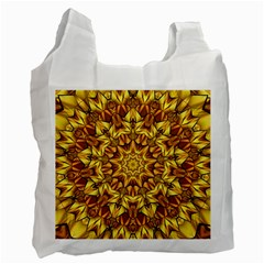 Abstract Antique Art Background Recycle Bag (two Side)