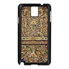 Gold Pattern Decoration Golden Samsung Galaxy Note 3 N9005 Case (black)