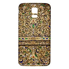 Gold Pattern Decoration Golden Samsung Galaxy S5 Back Case (white) by Simbadda