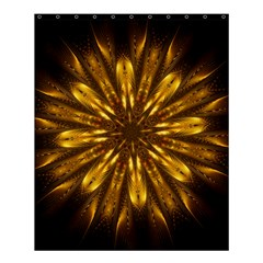 Mandala Gold Golden Fractal Shower Curtain 60  X 72  (medium)