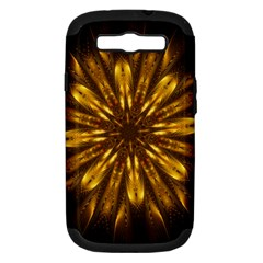 Mandala Gold Golden Fractal Samsung Galaxy S Iii Hardshell Case (pc+silicone)