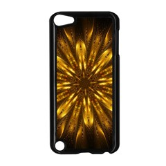 Mandala Gold Golden Fractal Apple Ipod Touch 5 Case (black) by Simbadda