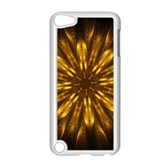 Mandala Gold Golden Fractal Apple Ipod Touch 5 Case (white) by Simbadda
