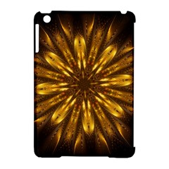 Mandala Gold Golden Fractal Apple Ipad Mini Hardshell Case (compatible With Smart Cover) by Simbadda