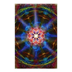 Mandala Pattern Kaleidoscope Shower Curtain 48  X 72  (small)  by Simbadda
