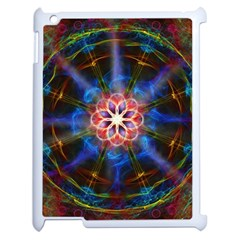 Mandala Pattern Kaleidoscope Apple Ipad 2 Case (white) by Simbadda