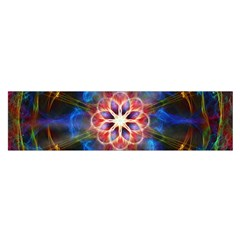Mandala Pattern Kaleidoscope Satin Scarf (oblong) by Simbadda