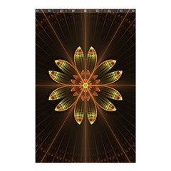 Fractal Floral Mandala Abstract Shower Curtain 48  X 72  (small)  by Simbadda