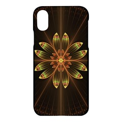 Fractal Floral Mandala Abstract Apple Iphone X Hardshell Case