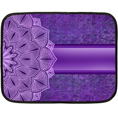 Background Mandala Purple Ribbon Double Sided Fleece Blanket (mini)  by Simbadda