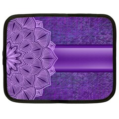Background Mandala Purple Ribbon Netbook Case (xl) by Simbadda