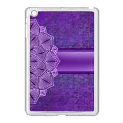 Background Mandala Purple Ribbon Apple Ipad Mini Case (white)