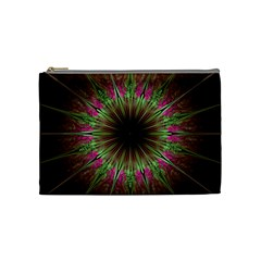 Julian Star Star Fun Green Violet Cosmetic Bag (medium) by Simbadda