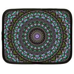 Fractal Kaleidoscope Mandala Netbook Case (large) by Simbadda