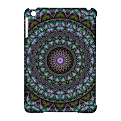 Fractal Kaleidoscope Mandala Apple Ipad Mini Hardshell Case (compatible With Smart Cover) by Simbadda