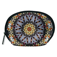 Abstract Art Texture Mandala Accessory Pouch (medium)
