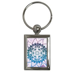 Mandalas Symmetry Meditation Round Key Chains (rectangle)