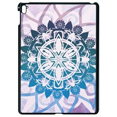Mandalas Symmetry Meditation Round Apple Ipad Pro 9 7   Black Seamless Case by Simbadda