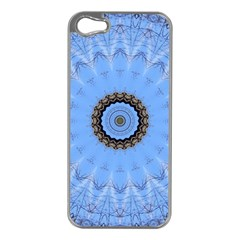 Mandala Graphics Decoration Apple Iphone 5 Case (silver)