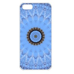 Mandala Graphics Decoration Apple Iphone 5 Seamless Case (white) by Simbadda